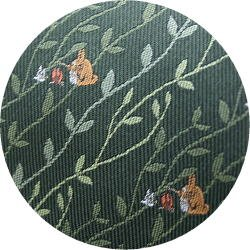 Ghibli - Totoro - Necktie - Silk - Jacquard Weaving - fire - green - made in Japan - 2008 (new)
