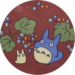 Ghibli - Chu & Sho Totoro - Necktie - Silk - print - crimson - made in Japan - 2008 (new)