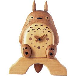 25%OFF- Table & Wall Wooden Clock - Handmade in Japan - Totoro Tail Pendulum - Quartz Citizen (new)