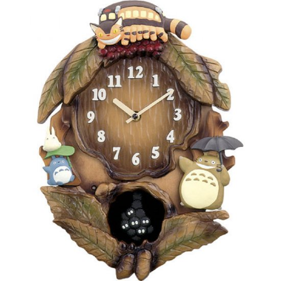 25% OFF - Wall Clock - Music Box - Melody every hour - Quartz Citizen - Totoro - made in Japan (new)