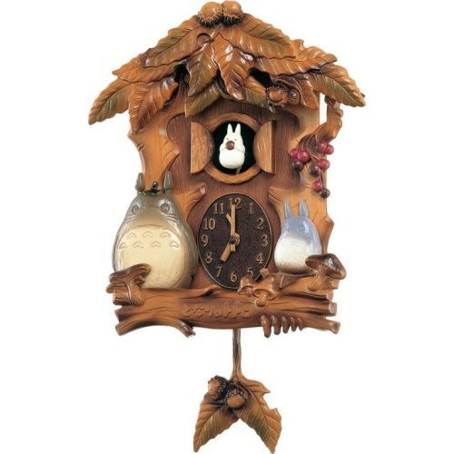 25% OFF - Wall Clock Music Box - Melody every hour - Quartz Citizen - Totoro - made in Japan (new)