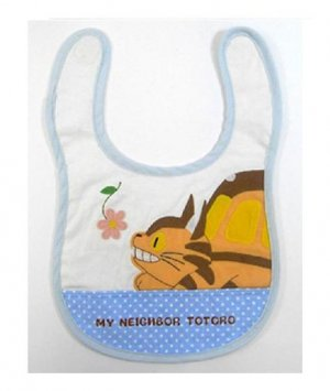 Baby Bib - Applique - pocket - Gift Case - Nekobus - Totoro - Sun Arrow - out of production (new)