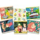 Puzzle - 9 Wooden Blocks - 6 Patterns - Ponyo - Ghibli - Ensky - 2008 (new)