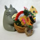 1 left- Figure & Japanese New Year's Decoration- Walnut Shell Container- Totoro -no production(new)