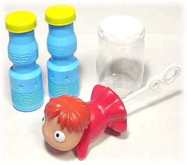 Bubble Soap Blower Set - Ponyo - Ghibli - Ensky - 2008 (new)