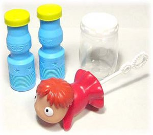 Bubble Soap Blower Set - Ponyo - Ghibli - Ensky - 2008 (new)
