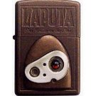 Zippo - Robot Face - Natural Stone Garnet - Wooden Case - Laputa - 2009 - no production (new)