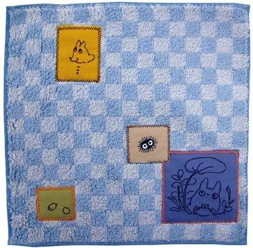 Mini Towel - 25x25cm - patch - Totoro & Sho Totoro & Kurosuke & Acorn - 2009 (new)