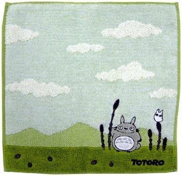 Mini Towel - 25x25cm - Embroidery - Totoro & Sho Totoro & Horsetail - Ghibli - 2009 (new)
