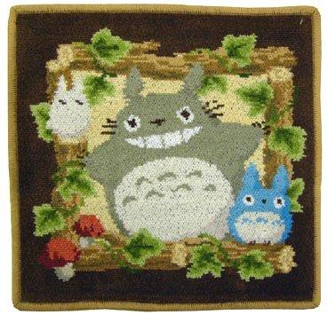 Mini Towel - 25x25cm - Chenille Weave - Totoro & Sho & Chu Totoro - Ghibli - 2009 (new)