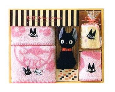Towel Gift Set - Mini & Wash & 2 Face & Plush Doll - Jiji - Kiki's Delivery Service - 2009 (new)