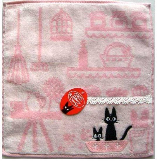 Ghibli - Kiki's Delivery Service - Mini Towel - Jiji Embroidered - pink - 2009 (new)