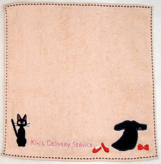 Ghibli - Kiki's Delivery Service - Mini Towel - Jiji & Dress Embroidered - orange - 2009 (new)