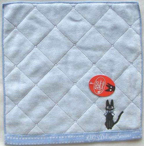 Ghibli - Kiki's Delivery Service - Mini Towel - Jiji with Ribbon Embroidered - blue - 2009 (new)