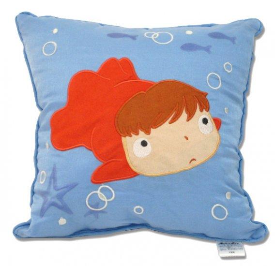 1 left - Cushion - 30x30cm - Applique - Ponyo - Ghibli - 2009 - no production (new)