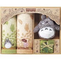 Towel Gift Set - Mini Towel & 2 Face Towel & Plush Doll - Totoro - Ghibli - 2009 (new)