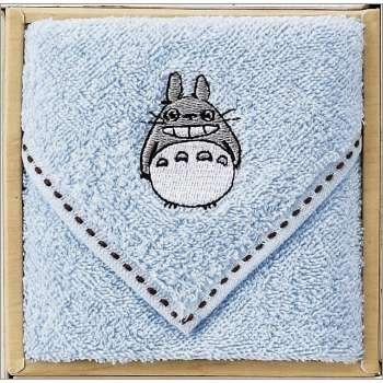 Towel Gift Set - Mini Towel - Totoro Embroidered - blue - Ghibli - 2009 (new)
