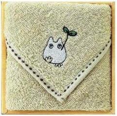 Towel Gift Set - Mini Towel - Sho Totoro Embroidered - beige - 2009 (new)