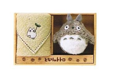 Towel Gift Set - Mini Towel & Mascot - Sho Totoro Embroidered - beige - Ghibli - 2009 (new)