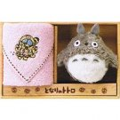 Towel Gift Set - Mini Towel & Mascot - Nekobus Embroidered - pink - Totoro - Ghibli - 2009 (new)