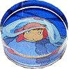 Rubber Stamp - Acrylic Handle - Ponyo under Jellyfish - Ponyo - Ghibli - 2008 (new)