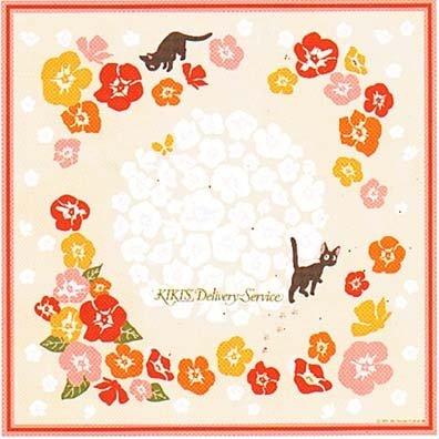 Handkerchief - 35x35cm - Jiji - Kiki's Delivery Service - Ghibli - 2009 (new)
