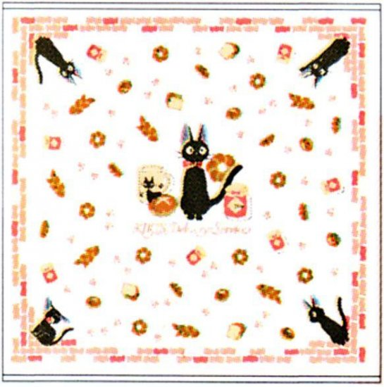 Square Towel - Gauze & Pile - Milkcrown - made in Japan- Jiji - Kiki's Delivery Service -2009 (new)