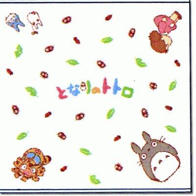Square Towel - 90x90cm - Gauze & Pile - Milkcrown - made in Japan - Totoro - 2008 (new)