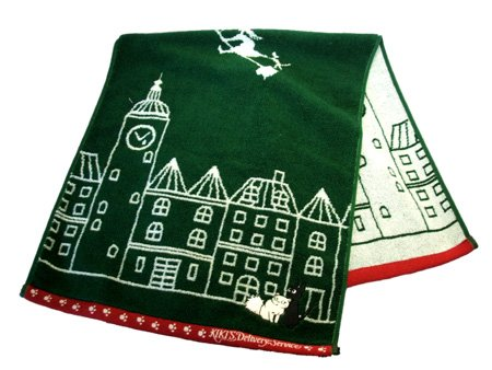 Ghibli - Kiki's Delivery Service - Jiji & Lily - Face Towel-green-2008-outproduction-SOLD(new)