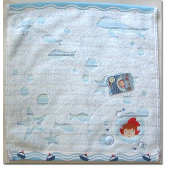Hand Towel - Embroidered & Applique - made in Japan - Ponyo - 2009 (new)