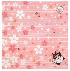 Ghibli - Totoro & Sho Totoro - Cloth - 50x50cm -sakura-made in japan-outproduction-RARE- SOLD (new)