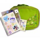 4 Stationary Set in Case- Mechanical Pencil & Clear File & Ring Notebook & Note Pad- Totoro (new)