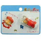 2 Magnet Set - Ponyo Face & Ponyo in Bottle - Ghibli - 2009 (new)