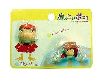 2 Magnet Set - Hangyojin Face & Ponyo in Jellyfish - Ghibli - 2009 - no production (new)