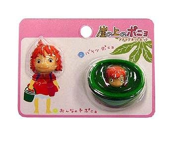 2 Magnet Set - Ponyo Girl Face & Ponyo in Bucket - Ghibli - 2009 - no production (new)