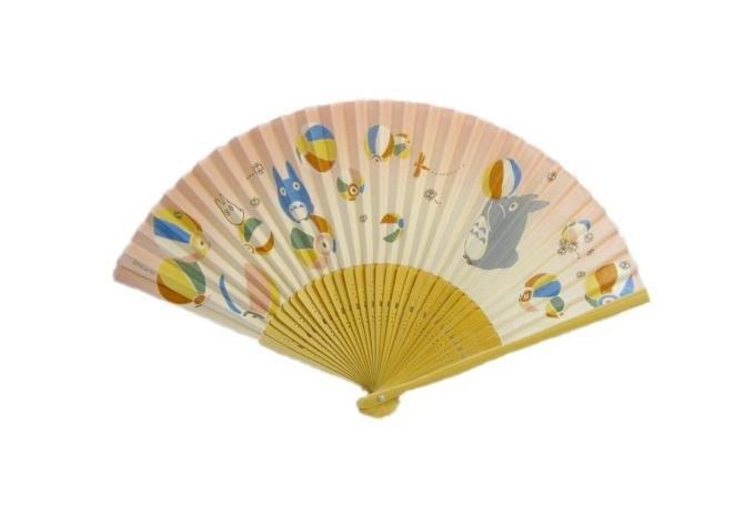 1 left - Folding Fan Sensu - Bamboo - Paper Ball - Totoro - Ghibli - 2009 - no production (new)