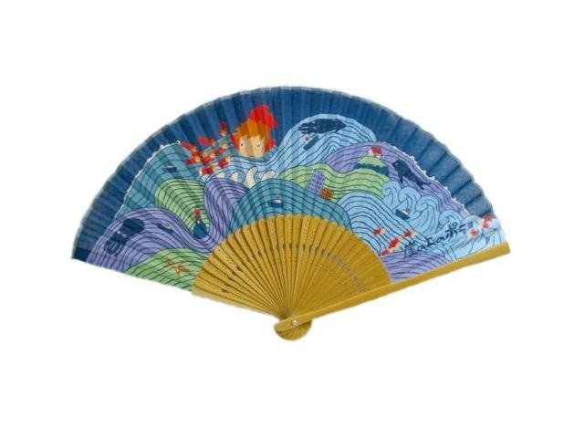 SOLD - Folding Fan - Ponyo - Ghibli - 2009 - no production (new)