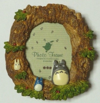 SOLD- Photo Frame - Stand with Magnet - Totoro & Chu & Sho - Ghibli -outofproduction- RARE(new)