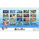 Desk Mat - 56x52cm - 20 pictures - world map - Ponyo - Ghibli - 2009 (new)