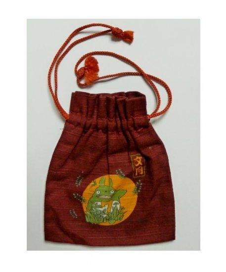 SOLD - Mini Kinchaku / Japanese Pouch Bag - July - Totoro - Ghibli -outproduction-RARE(new)