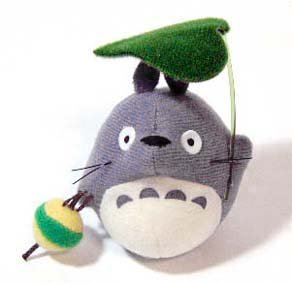 Mascot with Magnet - Totoro & Leaf - Ghibli - out of production - RARE (new)