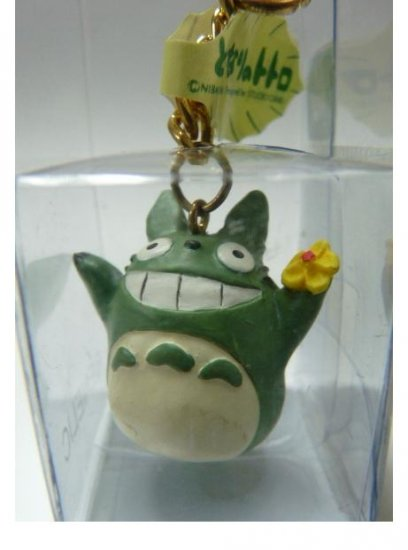 SOLD - Key Holder - flower - Green Totoro - Ghibli - out of production - RARE (new)