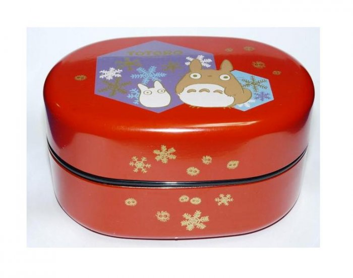 SOLD- 2 Tier Bento Lunch Box & Belt-JapaneseStyle- Totoro - Ghibli -madeinJapan-outproduction(new)