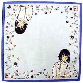 SOLD- Handkerchief - Haku & Susuwatari - Spirited Away - Ghibli -out of production (new)