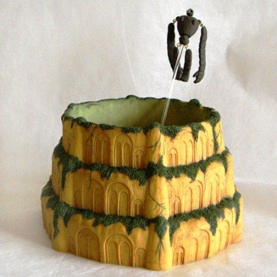SOLD - Castle Planter Pot & Robot Pick - Laputa - out of production (new)