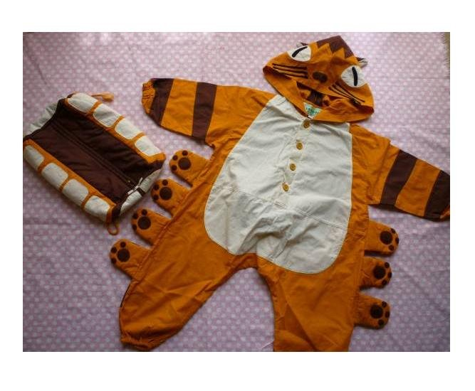 SOLD - Kid's Costume & Bag - for 100cm Tall - Nekobus - Totoro - Ghibli - out of production (new)