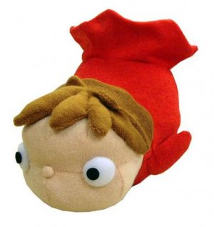 Plush Doll - Okiagari Koboshi -Chime inside- Japanese Traditional Toy- Ponyo - Ghibli -2009(new)