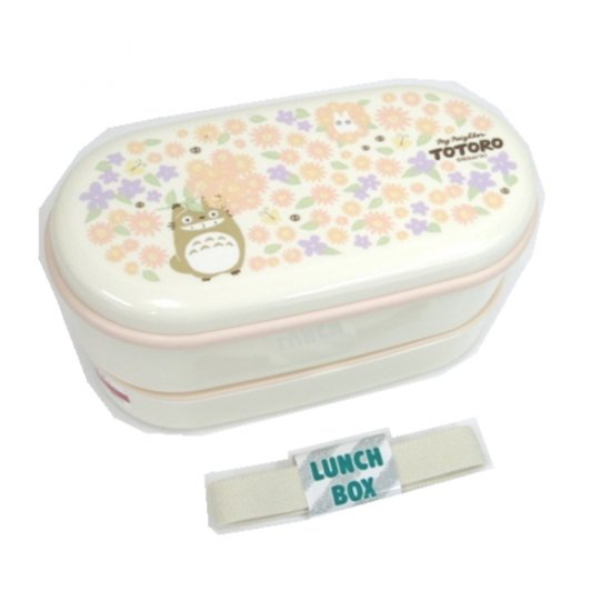 1 left - 2 Tier Lunch Bento Box & Chopsticks & Belt -made Japan - Totoro -2009- no production (new)