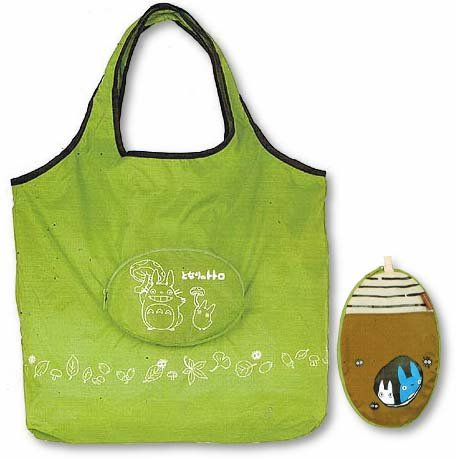 Eco Folding Shoulder Bag - Pocket changes to Compact Pouch - Totoro - Ghibli - 2009 (new)