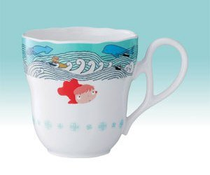 Mug Cup #1 - Noritake - Bone China - made in Japan - Ponyo - Ghibli - 2009 (new)